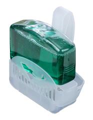 Plastic toilet rim block