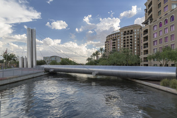Soleri Bridge in Downtown Scottsdale Arizona