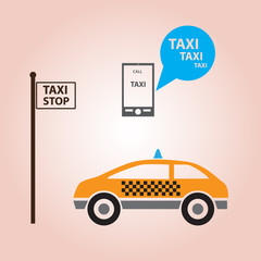 taxi style icons decoration eps10