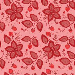 berry pattern pink