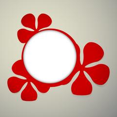 floral red frames