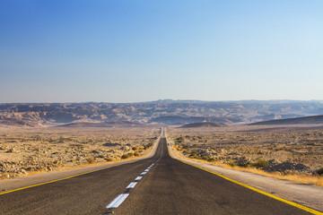 Beautiful road in the desert