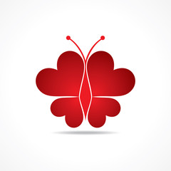 Heart make a butterfly stock vector