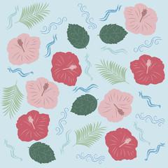 hibiscus pattern ハイビスカス パターン