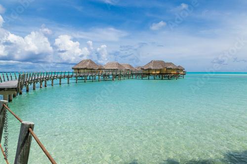Aluminium Palm boom Luxury overwater villas