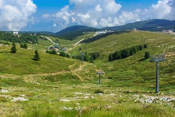 Ski resort in Uludag National park at summertime