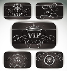 Set of platinum vintage Vip cards