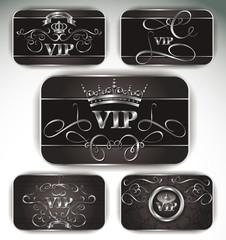 Set of platinum vintage Vip cards
