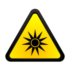 Warnhinweis gefährliche optische Strahlung