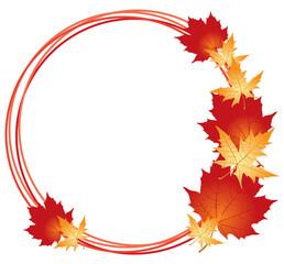 Maples leaves frame