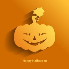 Halloween pumpkin flat icon