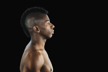 African man with mohawk hairstyle