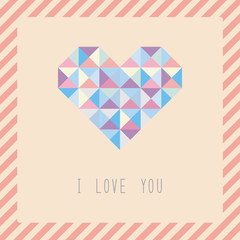 Triangle pattern heart card1