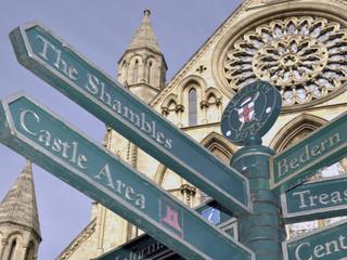 Tourist information signpost