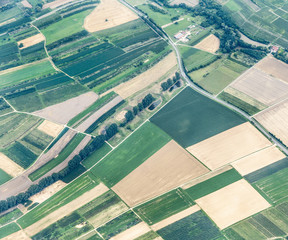 aerial of rural landscape
