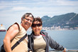 Happy couple enjoying boat trip in Gibraltar