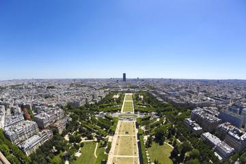 [PARIS]初夏の快晴青空と緑のパリの街並を望む[エッフェル塔より南東の方角の眺望]396