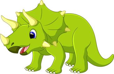 Cute dinosaur triceratops cartoon