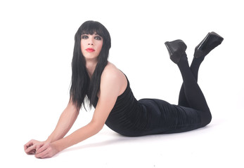 transvestite man in dress