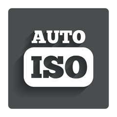 ISO Auto photo camera sign icon. Settings symbol