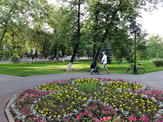 city park in the summer