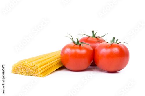 canvas print picture spaghetti mit frischen tomaten