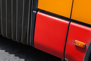 Colorful fragment of public passenger bus