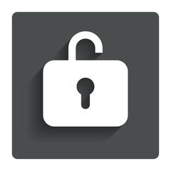 Lock sign icon. Login symbol.