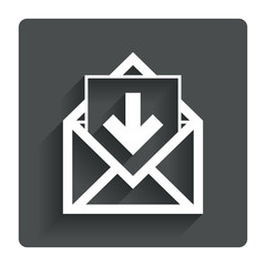 Mail icon. Envelope symbol. Inbox message sign.