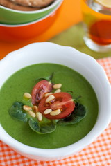 soup of arugula and spinach