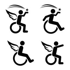 Motivational Disability Icon Set