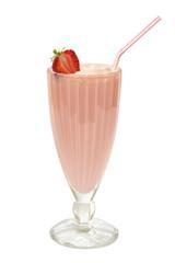 Milkshake with strawberries