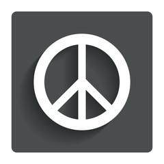 Peace sign icon. Hope symbol