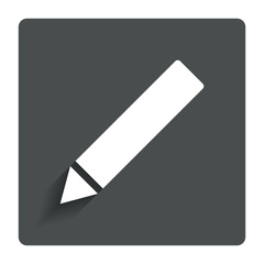 Pencil sign icon. Edit content button.
