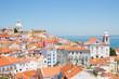 canvas print picture - view of Alfama, Lisbon, Portugal