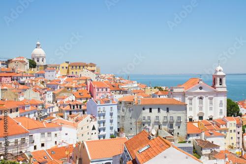 canvas print picture view of Alfama, Lisbon, Portugal