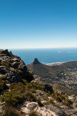 View of Lions head hill in South Africa