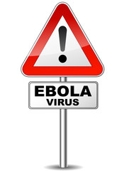 Vector ebola virus sign