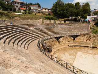 The Ancient Theatre in Ohrid, Macedonia, Europe