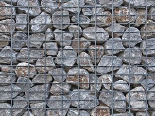 Gabione mit Steinen