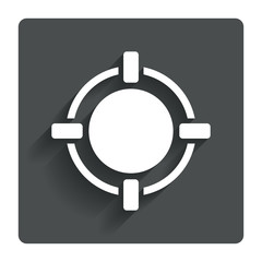Crosshair sign icon. Target aim symbol.