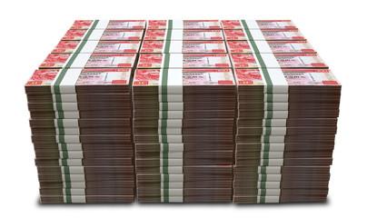 Hong Kong Dollar Notes Bundles Stack