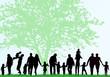 Family silhouettes - 68410295