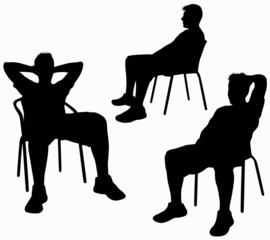 Man on chair silhouette