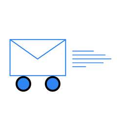 Envelope on wheels