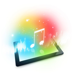 Playing music on Digital Tablet Computer