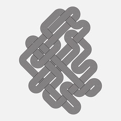 Graphic shape, vector element, twisted lines