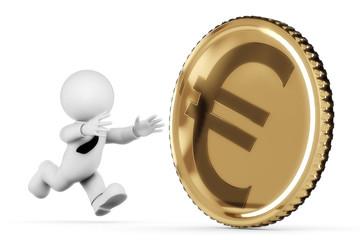 Münze nachlaufen