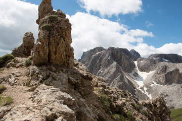 forcella denti di Terrarossa - Dolomiti