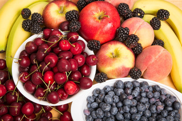 Fresh Whole Fruit Background